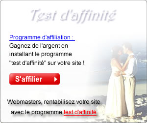 Programme d'affiliation voyance : test d'affinité